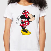Disney Mickey Mouse Minnie Split Kiss Frauen T-Shirt - Weiß
