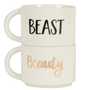 Sass & Belle Set of 2 Beauty and the Beast Stacking Mugs