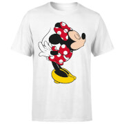Disney Mickey Mouse Minnie Split Kiss T-Shirt - White