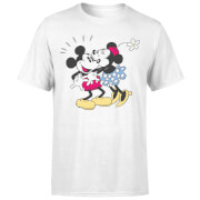 Disney Mickey Mouse Minnie Kiss T-Shirt - White