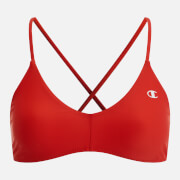 Red Champion Women's Cross Back Bikini Top