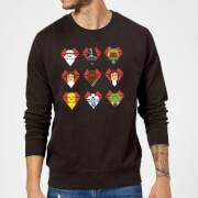 Star Wars Valentine's Pixel Montage Sweatshirt - Black