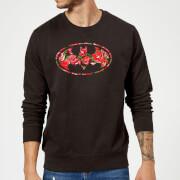DC Comics Floral Batman Logo Sweatshirt - Black