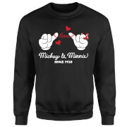 Disney Mickey Mouse Love Hands Sweatshirt - Black