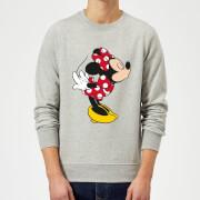 Disney Mickey Mouse Minnie Split Kiss Sweatshirt - Grey