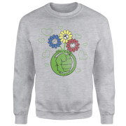 Marvel Avengers Hulk Flower Sweatshirt - Grey