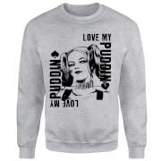 DC Comics Suicide Squad Harley Love Puddin Sweatshirt - Grey
