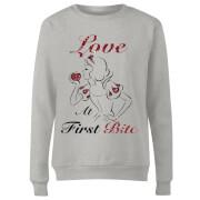 Sweat Femme Love At First Bite - Blanche - Neige (Princesse Disney) - Gris