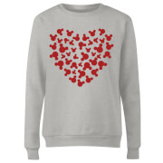 Disney Mickey Mouse Heart Silhouette Frauen Pullover - Grau