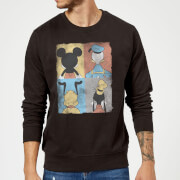 Sweat Homme Mickey Mouse Donald Duck Pluto Dingo (Disney) - Noir