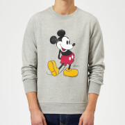 Sweat Homme Mickey Mouse Pose Classique (Disney) - Gris