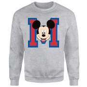 Sweat Homme Mickey Mouse M-Face (Disney) - Gris