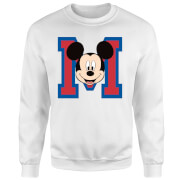 Sweat Homme Mickey Mouse M-Face (Disney) - Blanc
