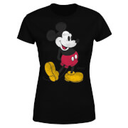 Disney Mickey Mouse Classic Kick Kleur Dames T-shirt - Zwart