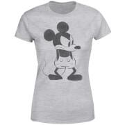 T-Shirt Femme Mickey Mouse En Colère (Disney) - Gris