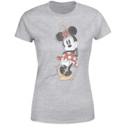 Disney Mickey Mouse Minnie Offset Women's T-Shirt - Grey