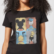 T-Shirt Femme Mickey Mouse Donald Duck Pluto Dingo (Disney) - Noir
