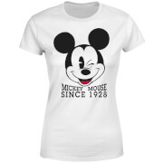 Disney Mickey Mouse Since 1928 Frauen T-Shirt - Weiß