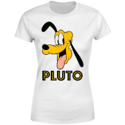 Disney Mickey Mouse Pluto Face Frauen T-Shirt - Weiß