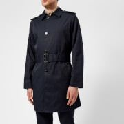 Aquascutum Men's Camber Lightweight SB Trench Coat - Navy - 38 /M - Navy
