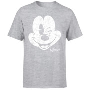 Disney Mickey Mouse Worn Face T-Shirt - Grey