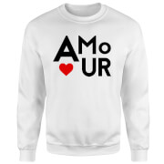 Amour Block Pullover - Weiß