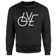LOVE Modern Pullover - Schwarz