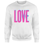Love Glitch Pullover - Weiß