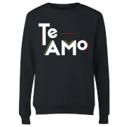 Te Amo Block Women's Sweatshirt - Black