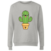 Cactus Love Women's Sweatshirt - Grey