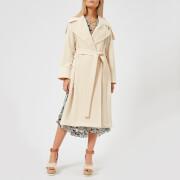 See By Chloe Women's Long Trench Coat Style Jacket - Angora Beige - FR 36/UK 8 - Beige