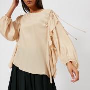 See By Chloe Women's Ruffle Tie Sleeve Blouse - Angora Beige - FR 38/UK 10 - Beige