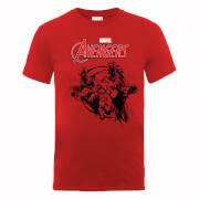 Marvel Avengers Team Burst T-Shirt - Red