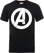 Marvel Avengers Simple Logo T-Shirt - Black