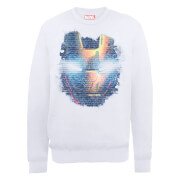 Marvel Avengers Assemble Iron Man Distressed Head Sweatshirt - White