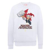 Marvel Avengers Assemble The Mighty Thor Sweatshirt - White