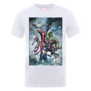 T-Shirt Homme Marvel Avengers - Team Montage - Blanc