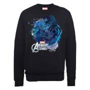 Sweat Homme Marvel Avengers Assemble - Captain America Montage - Noir