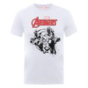 T-Shirt Homme Marvel Avengers - Team Explosion - Blanc