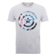 T-Shirt Homme Marvel Avengers Assemble - Bouclier Captain America Montage - Gris