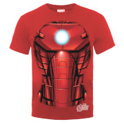 Marvel Avengers Assemble Iron Man Chest Burst T-Shirt - Red