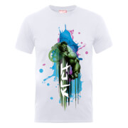 Marvel Avengers Assemble Hulk Art Burst T-Shirt - Weiß