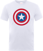 Marvel Avengers Assemble Captain America Simple Shield T-shirt - Wit