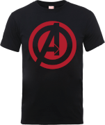 Marvel Avengers Assemble Captain America Logo T-Shirt - Black