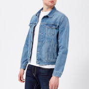 Edwin Men's High Road Denim Jacket - Light Stone Wash - L - Blue