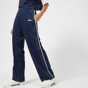FILA Women's Neka Snap Side Flare Pants - Navy - L - Blue