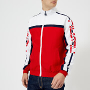 FILA Men's Ezra Archive Track Jacket - Red/White - L - Red