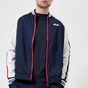 FILA Men's Lucas Mesh Track Jacket - Navy/Red/White - L - Blue