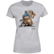 Disney Beauty And The Beast Sketch Women's T-Shirt - Grey