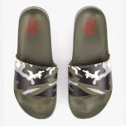 DFND Men's Ealing Sliders - Khaki Camo